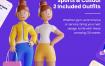 3D网络插图素材下载