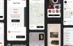 30个界面的艺术品交易展示ui设计素材下载