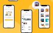 50多个界面的社交应用程序UI工具包素材下载