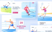 20多个爱运动插图素材下载