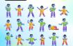 20多个的3d立体图形设计插画素材下载