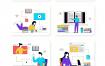 10个在线教育插图素材下载