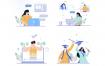 10个在线教育学习插画素材下载
