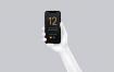 黑白手持iPhone 12 Pro模型素材下载