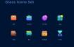 48个优秀得毛玻璃质感风格图标设计素材源文件下载