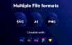 3 种风格优质图标源文件下载xd格式fig格式sk格式素材