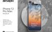 iPhone 12 Pro Max手机模型展示作品素材psd格式
