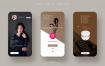 12款毕业设计面试作品手机UI界面APP模板PSD格式