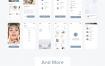 30多个界面女性美容护理市场UI素材提供XD、Sketch、figma格式源文件下载