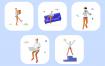 20个3d欢快的插图素材下载