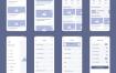 80+现代UI设计原型线框素材下载提供XD格式ui设计素材源文件下载