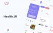 30多个界面的健康应用ui界面设计素材下载提供figma格式