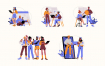 10个商业人物插画素材