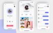 40个社交 iOS 应用UI设计套件素材提供sketch格式