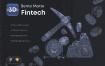 60个3D金融科技立体图标素材下载