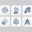 28个MBE风格的宇宙太空空间相关的图标素材下载