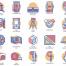 70个工程图标设计素材下载,包含ai,psd,eps等的格式文件