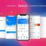 高品质的电子钱包或手机银行app应用ui界面设计素材下载,提供Sketch文件格式
