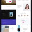 100多个精心布局网页设计高品质设计模版素材下载