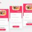 高级白金版美食食品app界面ui设计素材下载,提供sketch格式素材