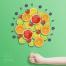 7款儿童卡通彩色c4d质感塑料悬浮物创意海报psd模板设计素材