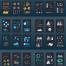 10款商业报告方案互联网柱状折线图数据统计信息图表AI矢量元素设计素材