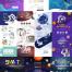 11款人工智能未来高科技电子海报宣传网页模板PSD分层素材源文件 – 资源大小1.05GB,包含PSD源文件