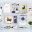 一套写实日式料理平放摆拍PS样机餐饮VI预览模型PSD分层设计素材