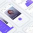 简约清爽的全套午餐时间约会app界面ui设计素材下载,提供sketch源文件