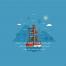 20款夏日海滨主题卡片app启动页插画矢量素材