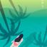 8款唯美手机壁纸夏季夜晚游泳跳水爬山踏青插图插画AI矢量素材