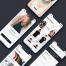高品质简洁时尚适用于Android和iPhoneX电子商务应用程序ui设计模板素材下载