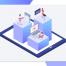 18款UI设计2.5D工作学习场景立体三维插画作品网页插图APP素材