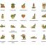 60个扁平化风格的瑜伽图标素材下载