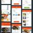 中文美食订餐APP界面设计UI面试作品源文件下载