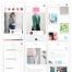 50+个文艺时尚的小清新app界面ui设计素材下载,提供sketch格式的源文件下载