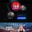 健身房运动黑色高级网站模版PSD素材