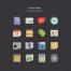 200+扁平风格UI设计素材PSD源文件打包下载(包含网页模板,UI工具包,图标等)