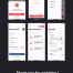 汽车预订租车移动UI工具包app界面优质ui设计素材下载