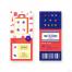 12款手机电商活动插画炫彩渐变购物优惠礼物海报PSD设计素材