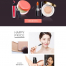 10款美妆护肤化妆品广告网页首页详情页专题页面海报模板PSD设计素材