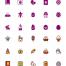100复活节彩蛋像素完美图标集合设计素材下载