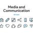 50个媒体和通信图标集素材下载