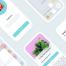 超级简洁清爽的烹饪和吃新鲜食物有运动卡路里iOS UI套件优质设计素材下载