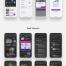 17个完美的iOS博客与出版应用程序UI套件app界面UI设计素材下载