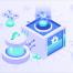 加密货币业务类别2.5d等距插图素材下载