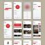 40个专为iPhone X设计的界面锻炼健身移动UI工具包优质设计素材下载