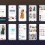 100个时髦的电子商务应用app界面UI设计素材下载