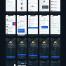99精心设计的现代简洁包含暗黑主题UI工具包app界面优质设计素材下载(提供XD和sketch格式源文件)