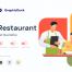 现代餐饮业和美食餐厅插图优质设计素材下载